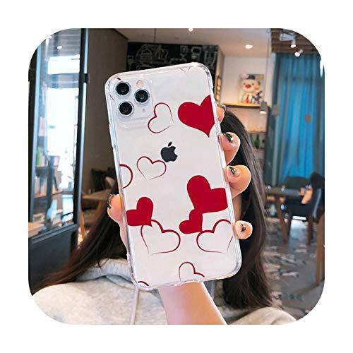 Funda para teléfono móvil transparente suave para iPhone 5, 5S, 5C, SE, 6, 6S, 7, 8, 11, 12 Plus, Mini x xs xr pro max-a12-para iPhone 6, 6S Plus