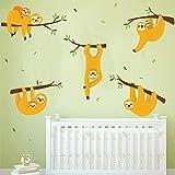 ufengke Pegatinas de Pared Perezosos Vinilos Adhesivos Pared Rama de Árbol Decorativos para Dormitorio Habitación Infantiles