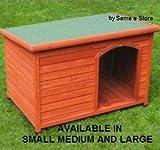 Extérieur Maison Niche pour chien en bois à toit plat chiot Abri accessibles facile...