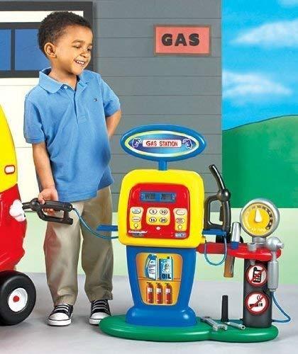 Kids Play Fill'er Up Gas Station Gas Pump & Kids Credit Card Machine BOX DAMAGE