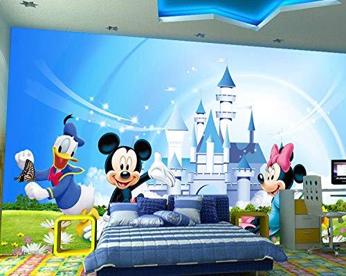 RQWBH Selbstklebende Tapete 3D Wandbilder (B) 200X (H) 150Cm Anime Cartoon Maus Minnie Kinderzimmer Tapete Jungen Und Mädchen Raumdekoration Schlafzimmer Künstler Wohnzimmer Tv Hintergrund Wand