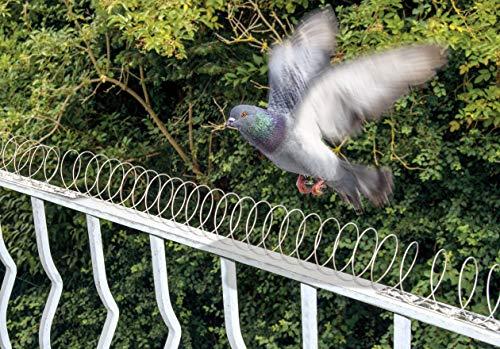 Gardigo 5 Metri Spirale Spaventapasseri Dissuasori Volatili Repellente Anti-Uccelli e Anti-Piccioni Alternativa di Spilli Anti Piccione