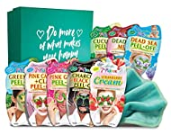 💚 8 of our most popular facial masks, perfect for any skin type! ✨ Includes a teal cleansing face cloth and and decorated keepsake box. 🌱 Natural and naturally derived plant extracts. 😄 Contents can cause happiness. ✅ The right one for you! Ideal for...