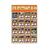 Leinwand-Poster, Motiv: Fußballmannschaft VfB Stuttgart,