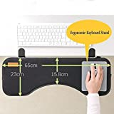 Ergonomic Desk Extender Clamp On Keyboard Tray Under Desk Adjustable Mouse and Keyboard