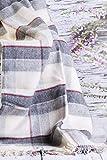 Merino Wool Bedding Manta de 100% Pura Lana Merina Manta 160 x 200 cm Cálido y Natural Muy Suave y Confortable. Double Blanket 160 x 200 CM