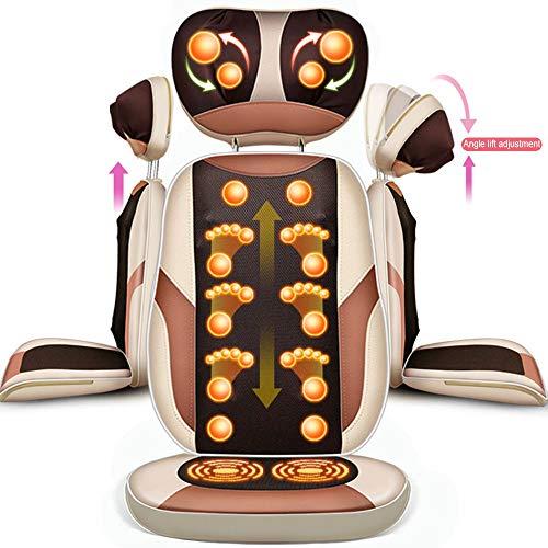 HGJDKSJ Shiatsu massagemat, stoelbekleding voor trillingsmassage met diepe kneedmassage, hoek en hoogte verstelbaar voor pijnverlichting