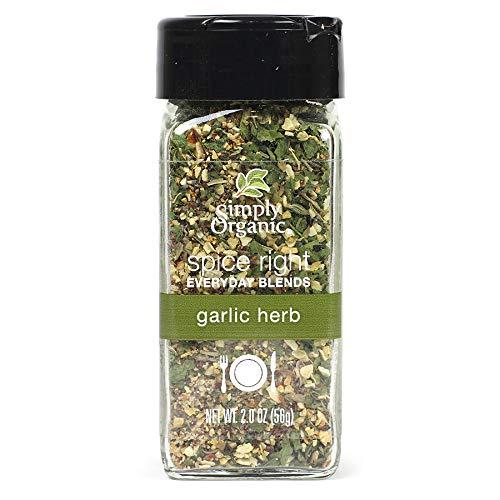 Simply Organic Spice Right Everyday Seasoning Blends, Garlic & Herb, Certified Organic | 2 oz