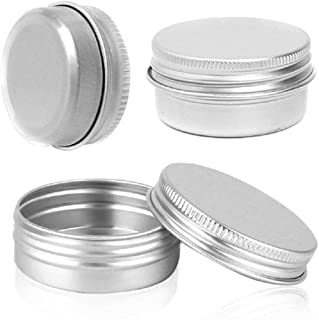 VV's AU 20Pcs 5ML-250ML Muti-size Silver Empty Aluminium Metal Tin Box Refillable Containers for Cosmetic Crafts Candle Ointment Jewelry Small Sample Storage Jars