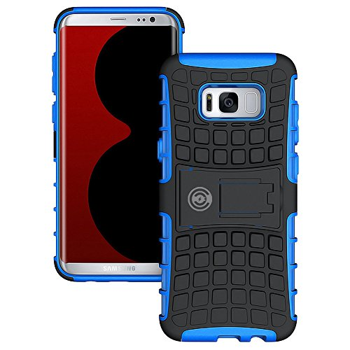 Galaxy s8 Plus Case, Samsung S8 Plus Case by Cable And Case | Wallet Thin Galaxy s8 Edge Plus (2017) | Protective Case for Samsung Galaxy S8 Plus with Kickstand | Premium Quality & Protection (Blue)
