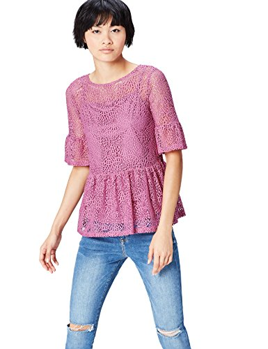 find. Lace Peplum Blouse Femme, Rose (Orchid), 42 (Taille Fabricant: Large)