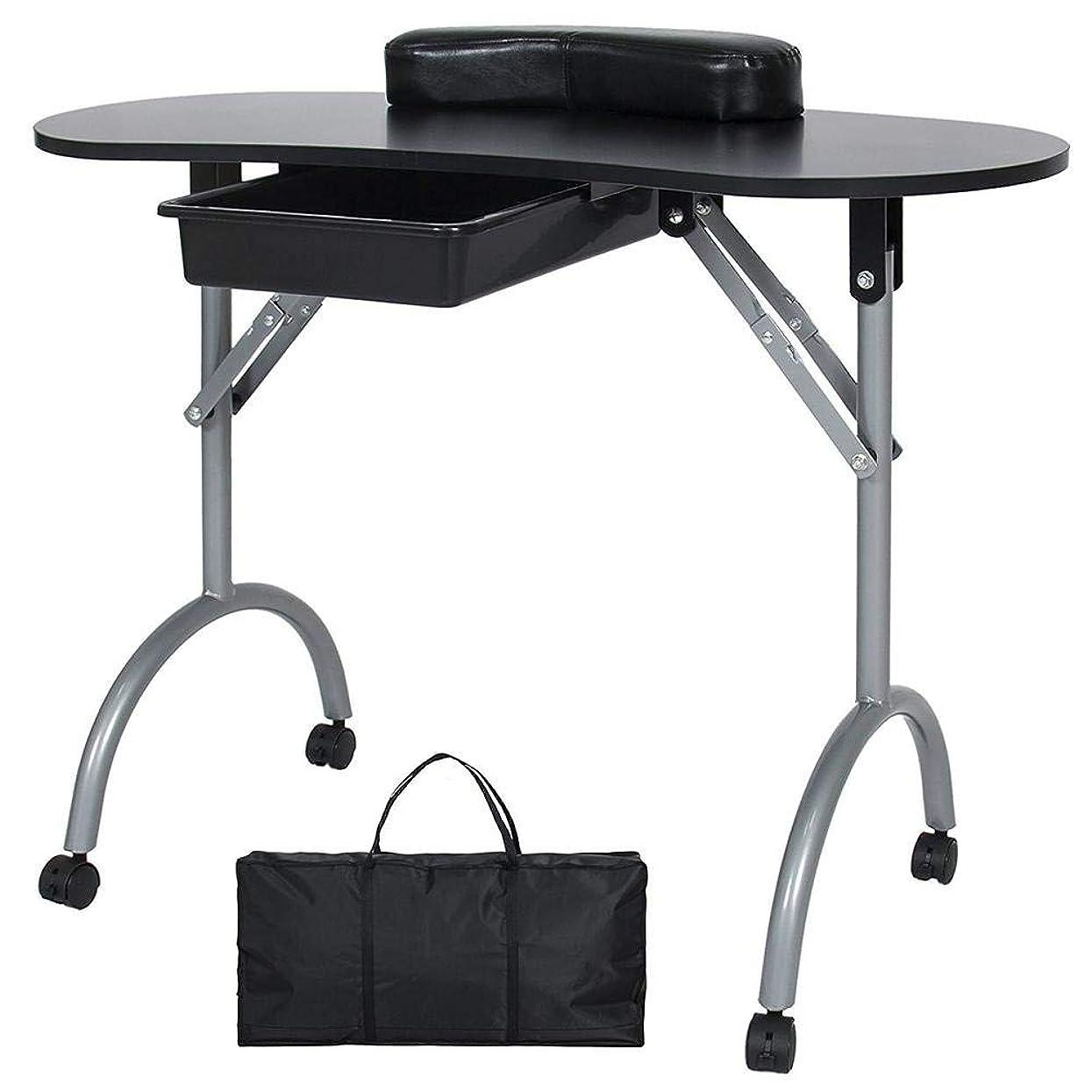 流星入場プレートFMEZYネイルテーブルマニキュアテーブル製品ポータブルマニキュア折りたたみデスクワークステーション付きキャリングバッグ