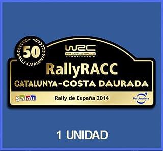PEGATINAS STICKERS RALLY 50 RALLY DE ESPAÑA RACC CATALUNYA COSTA DAURADA 2014 DP500 RALLYE AUFKLEBER DECALS AUTOCOLLANTS ADESIVI CAR DECALS RALLY RALLIES