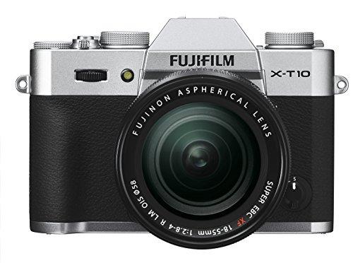 Fujifilm X-T10 Silver Mirrorless Digital Camera Kit with XF 18-55mm F2.8-4.0 R LM OIS Lens - International Version (No Warranty)