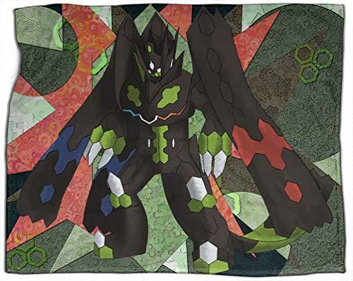 All Season Throw Blanket Pokemon Guardian Zygarde Geometric Irregular Dorm Bed Baby Cot Traveling Picnic 30x40 Inch