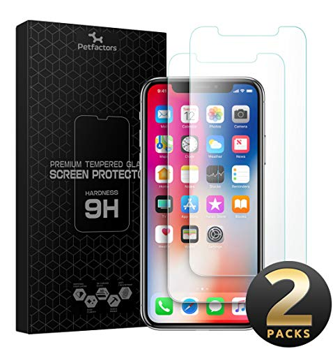 Kelpie iPhone XS Max Screen Protector [2 Pack] - HD Tempered Glass Screen Protector[Easy Installation] [Free Bubbles] [Anti-Scratch] for Apple iPhone XS Max 2018
