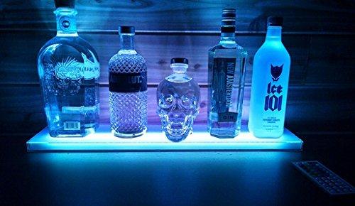 Sea Star Home Bar Lighting 2ft LED Lighted Liquor Bottle Display Shelf