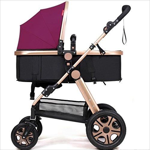 Strollers DD babywagen pasgeborenen baby opvouwbare kinderwagen kan 1 maand lang in de kinderwagen zitten en slapen - 4 jaar leeftijd vierwielige wagen, babywagen