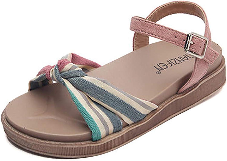 Sandals for Women, Gladiator Sandals for Women Platform Sandals colorful Striped Simple Style Summer Sandals