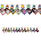 Amscan 1st Birthday Elmo Photo Garland Supplies Elmo Sesame Street Fun to be One!,Multicolored