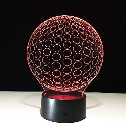 Sanzangtang Led-nachtlampje, 3D-visionzeven, kleuren-afstandsbediening, nachtlampje, acryl, tafellamp, ronde bol, voor woonkamer, slaapkamer, kinderen, uitstekend verjaardagscadeau, maanlamp, nachtlampje