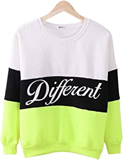 Autumn And Winter Women Printed Letter Different Women Casual Sweatshirt Hoodies Coats- Size M