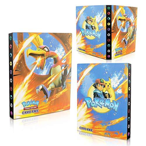 EKKONG Tarjetero, Álbum de Cartas Coleccionables, Pikachu Collection Handbook, Carpeta de Titular de Tarjetas, 30 páginas - Puede Contener hasta 240 Tarjetas