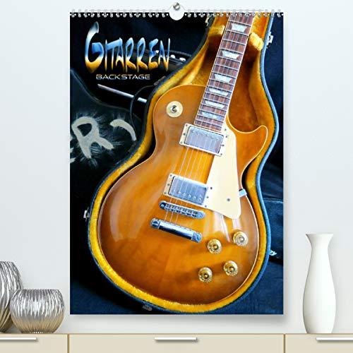 Gitarren backstage (Premium, hochwertiger DIN A2 Wandkalender 2021, Kunstdruck in Hochglanz)