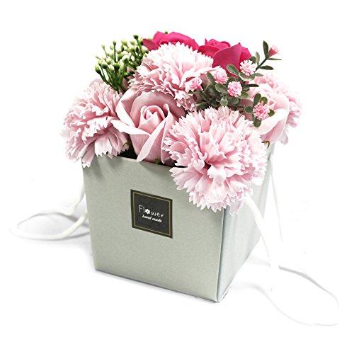 1x Soap Flower Bouqet - Pink Rose & Carnation-LSF-02