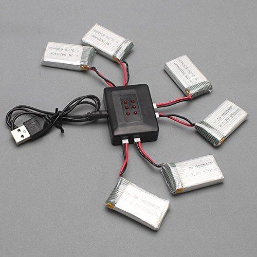YUNIQUE DEUTSCHLAND ® 6 STUCK 3.7V 720 mAh LiPo-Akkus für Syma X5SC und X5SW und X5C X5C-1Quadcopter