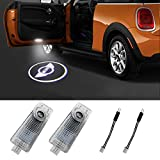 Klinee Mini Cooper Accessories Car Door LED Logo Projector Welcome Lights For Mini Cooper 12V(2-Pack)