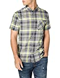 Tommy Jeans TJM Shortsleeve Check Shirt Camisa, Beige suave/multicolor, M para Hombre