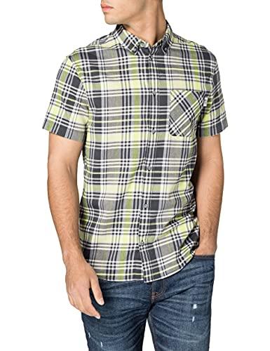 Tommy Jeans Tjm Shortsleeve Check Shirt Camicia, Beige Morbido/Multicolore, XL Uomo