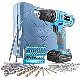 Hi-Spec Azul Taladro Atornillador Inalámbrico de 12V...