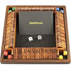 🎲STOOD THE TEST OF TIME: Shut the Box is a dice game that's been around for over 250 years. Until today it continues to provide endless family fun. It's one of the classic pub and bar games and great for parties or a day in with friends who like dice...