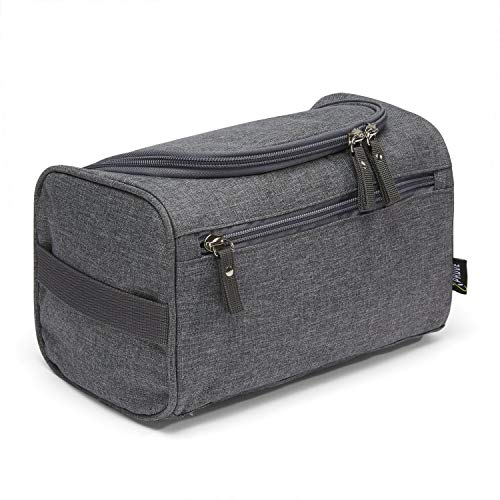 Komfort Kulturtasche Herren zum Aufhängen (Grau) - Cool, Lässig, Stylisch - Hochwertiger Männer Kulturbeutel - Waschtasche Männer