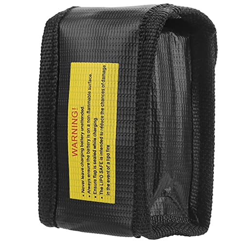 Bolsa de batería a prueba de explosiones Bolsa de almacenamiento de batería a prueba de fuego para estuche de transporte de batería Lipo(1 pila)