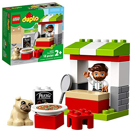 LEGO DUPLO Town Pizza Stand 10927 Pretend Play Pizza Set for Toddlers, Learning Toy for Kids Ages 2 and Over, New 2020 (18 Pieces)