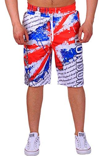 Heren jogging bermuda shorts | korte joggingbroek voor mannen | lichte katoenen broek met zakken | korte joggingbroek voor heren | vrijetijdsbroek in Londen design