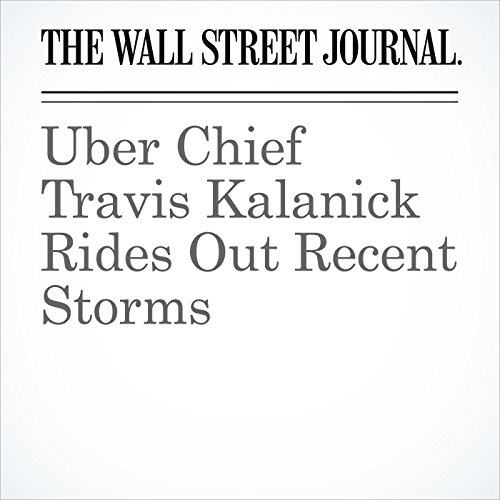 Uber Chief Travis Kalanick Rides Out Recent Storms copertina