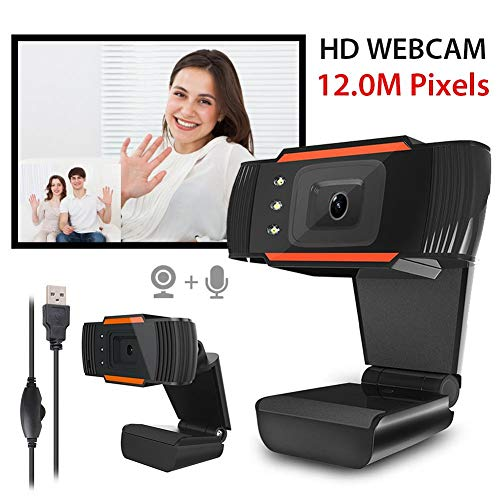 Whelsara StreamCam Cámara web de transmisión en vivo HD con micrófono de absorción de sonido USB Webcam vídeo para trabajo remoto, juegos, videollamadas, grabación de conferencias