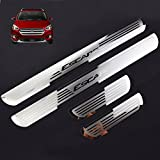Weigesi Stainless Steel Sill Scuff Plate Door Sill Protector for Ford Escape Accessories 2014 2015 2016 2017 2018 2019 2020