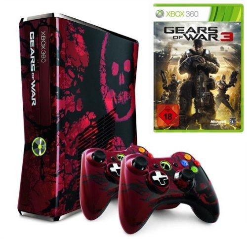 Microsoft Xbox 360 Limited Edition Gears of War 3, BNDL - juegos de PC (BNDL, 320 GB, AV) Negro, Rojo