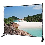 Voilamart Step and Repeat Display Backdrop Banner Stand 8' x 8' Adjustable Telescopic Display Backdrop Stand for Trade Show, Photo Booth, Wall Exhibitor Background with Carrying Bag