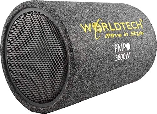 Worldtech Car Bass Tube with 10 inch woofer and Amplifier