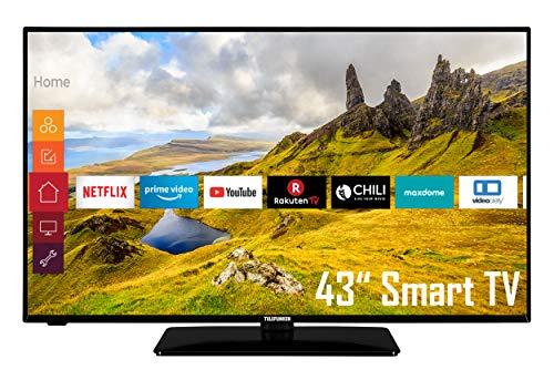 Telefunken D43F551N1CW 43 Zoll Fernseher (Full HD, Triple Tuner, Smart TV, Works with Alexa)
