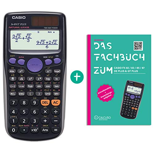 Casio FX-85GT Plus Schwarz + Fachbuch