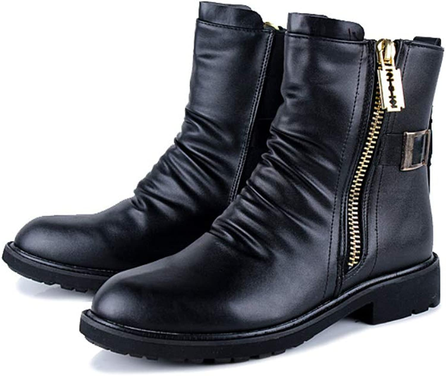 shoes House Men's Booties Waterproof Non-Slip Casual Boots