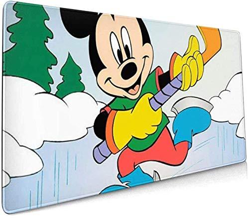 Tbagem-Yjr Alfombrilla de Ratón Grande Gaming Mouse Pad XXL, Alfombrilla de ratón para Juegos Grandes Minnie Mouse Skiing Cojín de Escritorio extendido para computadoras Teclado Grueso Alfombrilla