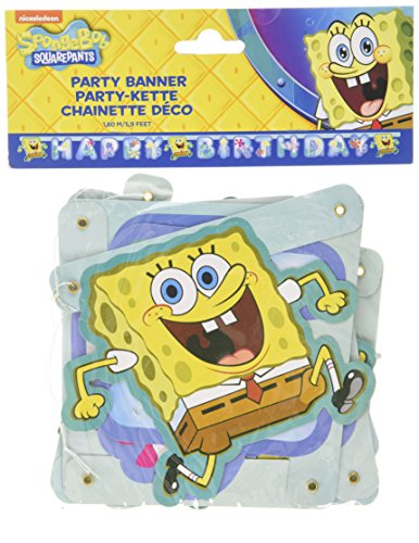 amscan 997780 Partykette Spongebob Happy Birthday